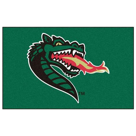 Alabama Rug by Fanmats Ncaa Of Alabama Birmingham Green 5 Ft