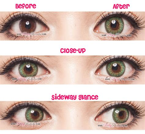 Mint Color by G Amp G Shinny Green Circle Lenses Colored Contacts