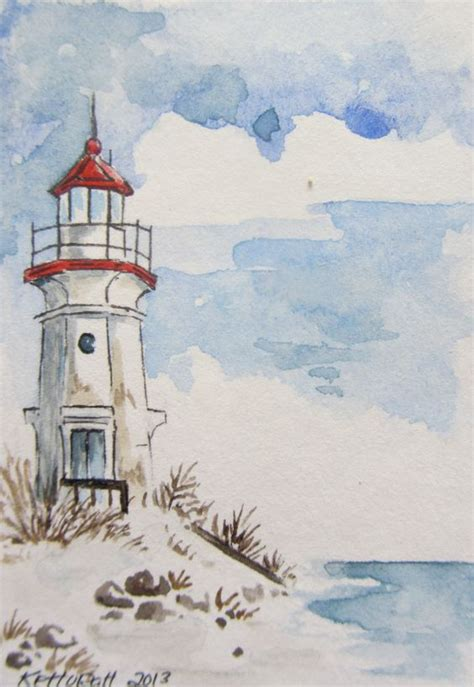 watercolor lighthouse tutorial 1000 ideas about lighthouse drawing on pinterest
