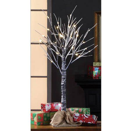 stick christmas trees with lights time pre lit 3 brown stick artificial tree warm white lights walmart