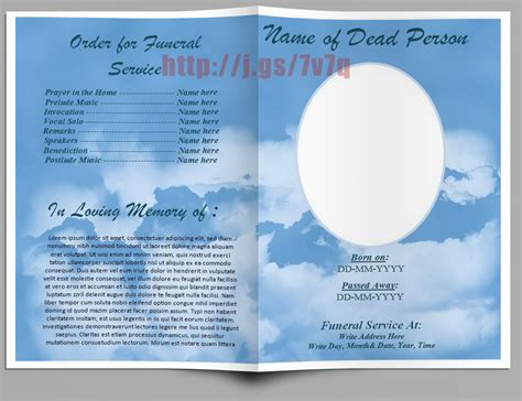 funeral program in word australia outside pages download