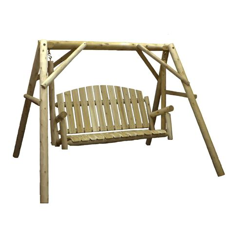 swing stands home depot lakeland mills 38 in country cedar outdoor porch swing