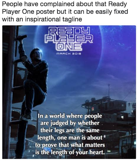 Meme Poster - people have complained about that ready player one poster