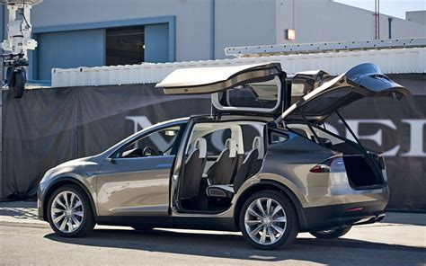 How To Open Tesla Doors Tesla Model X Rear Three Quarter Doors Open Images Tesla