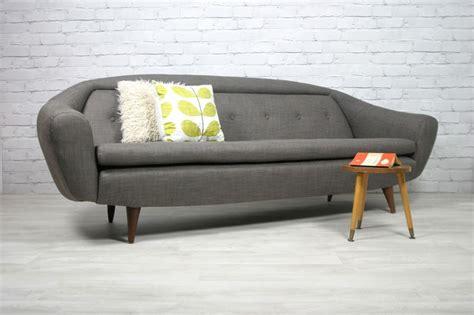 60s couch retro vintage midcentury teak danish style sofa eames era