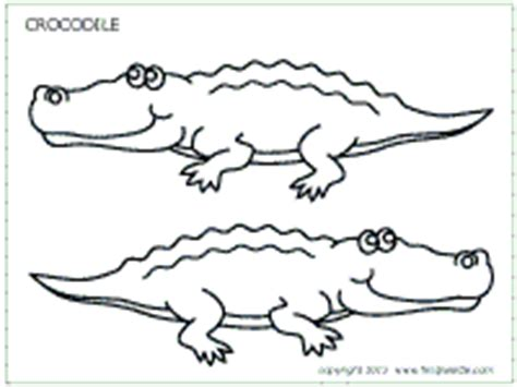 alligator template crocodile printable templates coloring pages