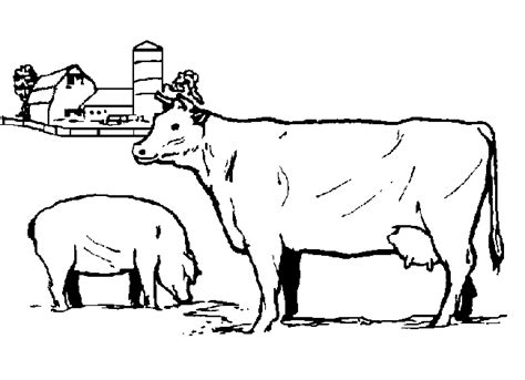 realistic cow coloring page farm animals coloring pages coloringpages1001 com