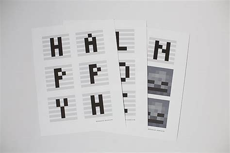 printable minecraft letters printable minecraft inspired halloween banner all for