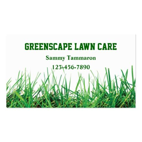 lawn care business cards templates free lawn care and landscaping zazzle