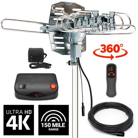 lified tv antenna digital indoor outdoor 150 200 mile signal booster hd 1080p 45079429529 ebay