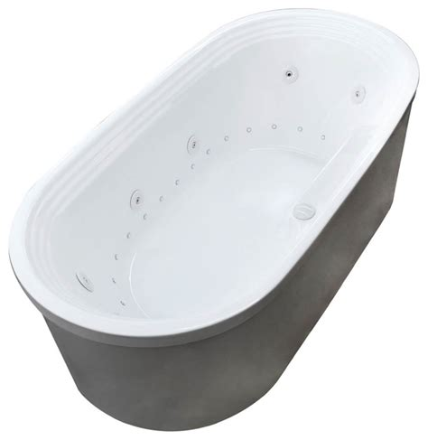 lucien 34 x 67 oval freestanding bathtub w whirlpool
