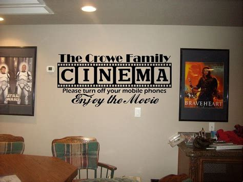 theater home decor cinema theatre customized sign home theater vinyl wall decor mural decal ebay