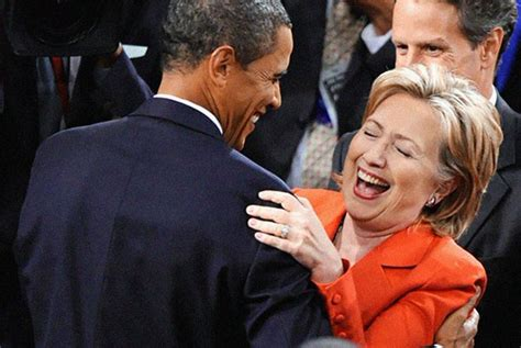 Obama Laughing Meme - hillary obama laugh blank template imgflip