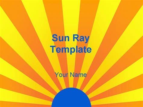 sun ray template