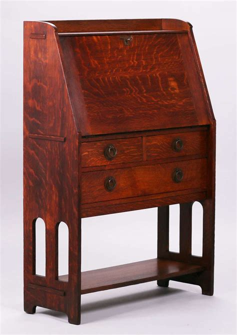 Stickley Drop Front Desk by Stickley Brothers Drop Front Desk California Historical Design