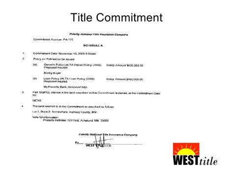 Hud Commitment Letter Reo Basics