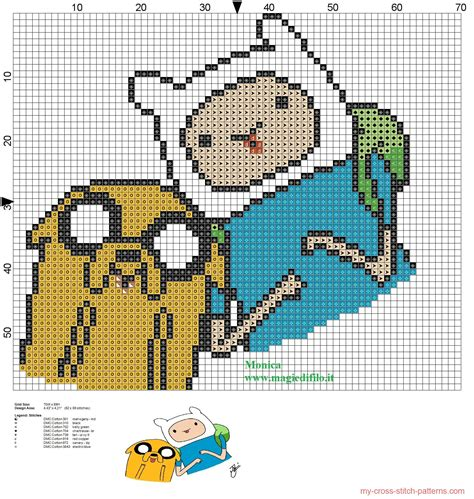 pattern hora html jake and finn adventure time cross stitch pattern