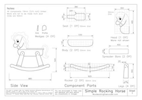 large wooden rocking horse plans  woodworking