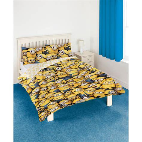 minion bed set b m gt despicable me minions double duvet set 297612