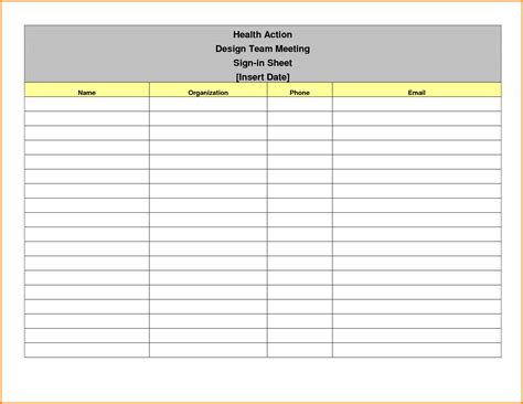 sign out sheet template meeting sign in sheet authorization letter pdf