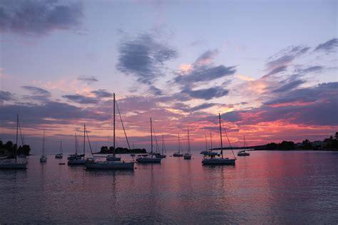 boat cloud free images sea water horizon dock cloud sunrise