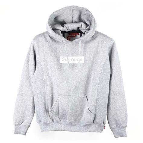 Supreme Box Logo Hoodie Grey With Real Material supreme quot box logo velour pouch quot hoodie gray