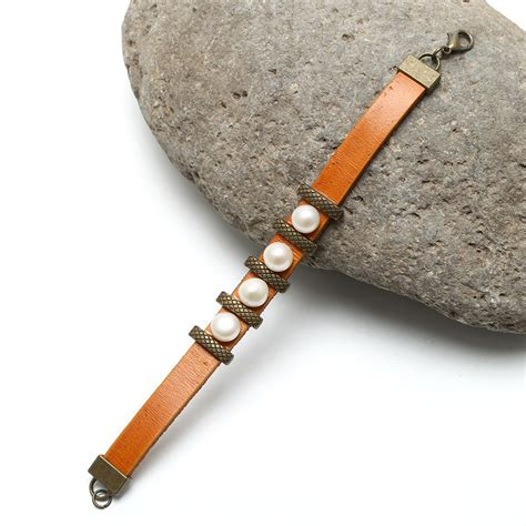 Handmade Pearl Bracelet - aobei pearl handmade button white freshwater pearl