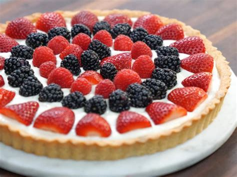 Tv In Kitchen Ideas Mixed Fruit Tart Recipe Valerie Bertinelli Food Network