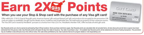 Visa Gift Card Gas - 2x gas points at giant stop shop on visa gift card purchases 6 26 7 16 doctor of credit
