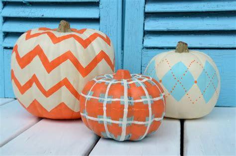 how to paint chevron plaid and argyle pumpkins home
