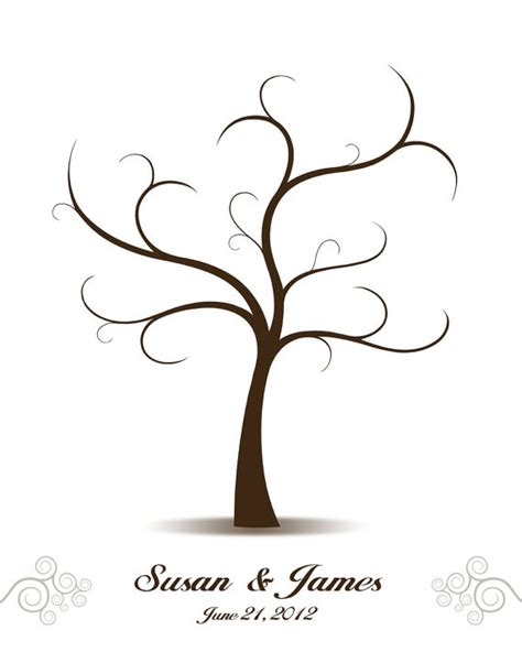 thumbprint family tree template wedding tree guest book birds guest book alternative