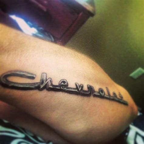 chevy symbol tattoos 35 chevy tattoos for proud chevrolet owners pictures