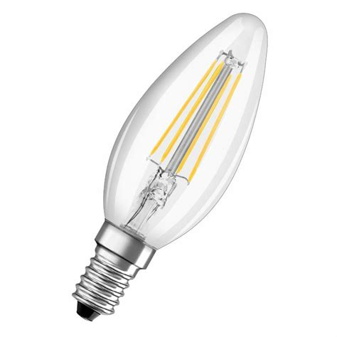 Lu Bohlam Led Osram 4w osram parathom filament b40 4w 827 fl led candle l warm white not dimmable