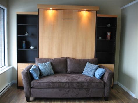 tv on murphy bed contemporary home theater other
