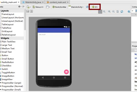 android studio layout behavior no rendering in android studio