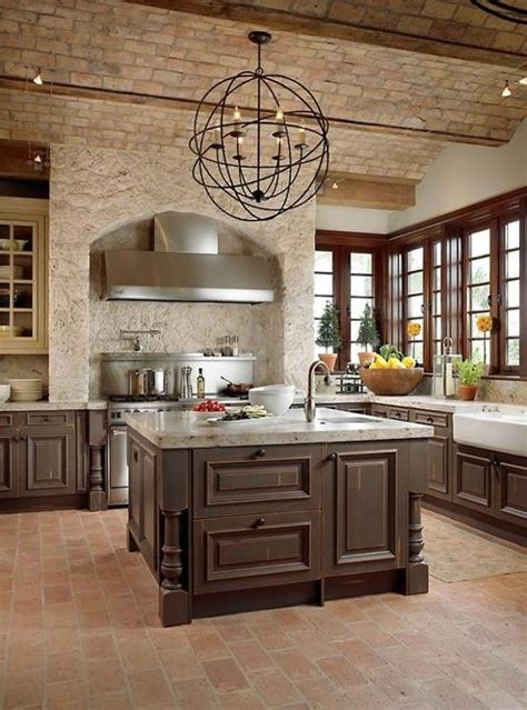 ideas for kitchen 74 stylish kitchens with brick walls and ceilings digsdigs