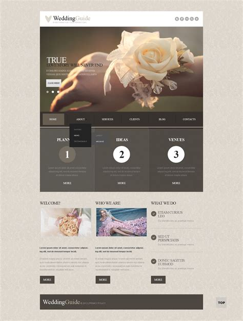 wedding planner responsive joomla template 43724