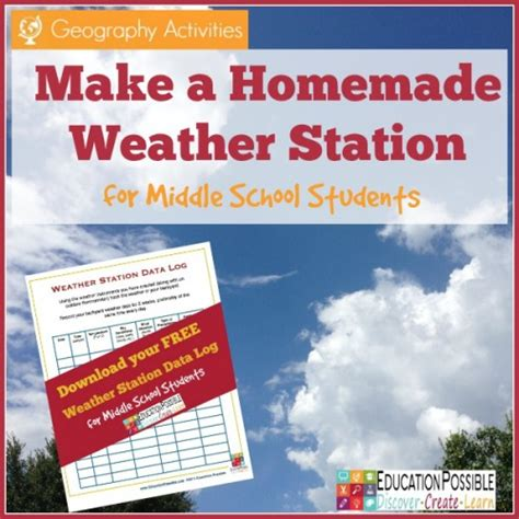 geography activities make a weather station