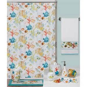 creative bath rainbow fish shower curtain shower