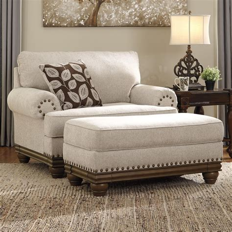 chair and a half rocker with ottoman signature design by harleson transitional chair and