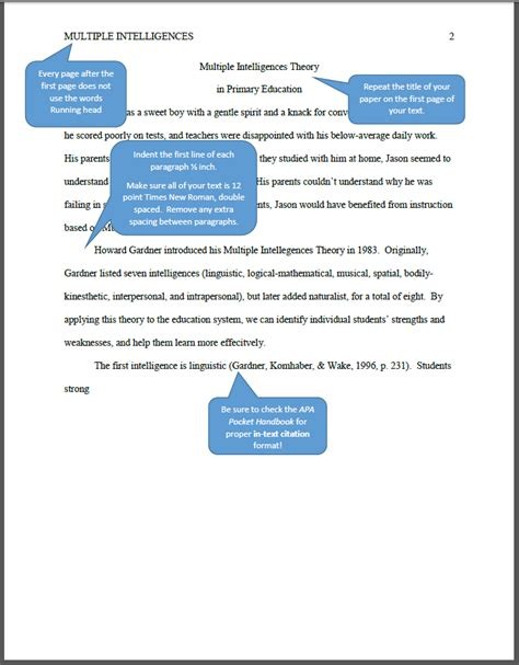 apa format without title page apa how to format your whole paper nursing tr