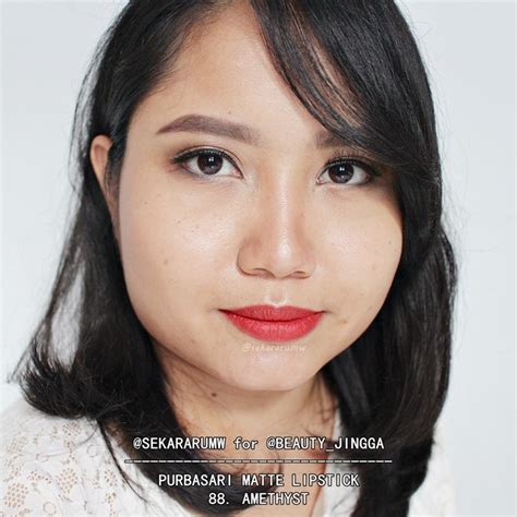 Purbasari Matte Lipstick Nomor 88 racun warna warni review swatch all shade purbasari