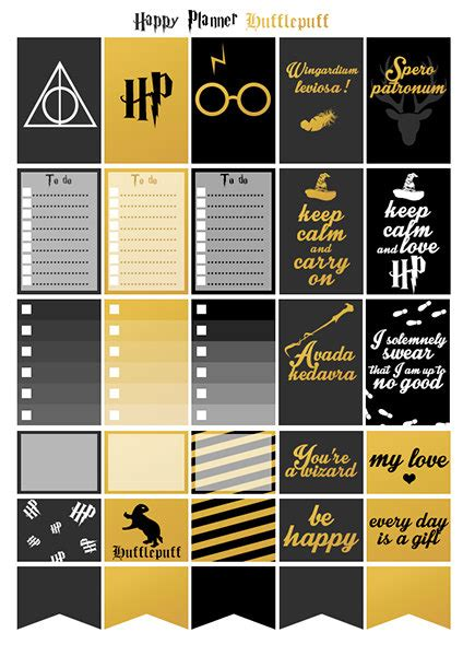 Schedule Stickers Schedule Seal Date Marker Stickers printable stickers harry potter hufflepuff by lateliercreatif06 pinteres