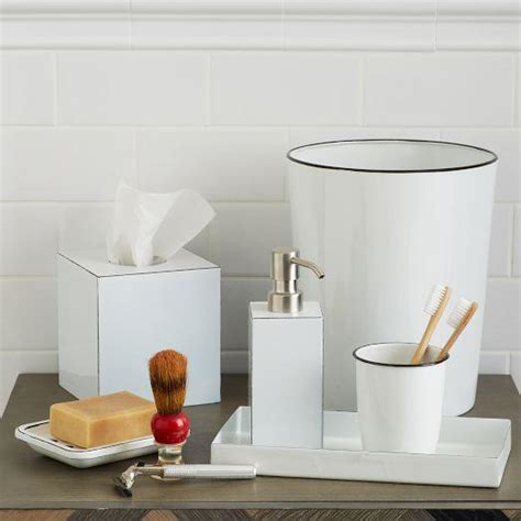 enamel bath accessories west elm
