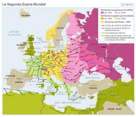 la segunda guerra mundial mapa europa despues de la segunda guerra mundial