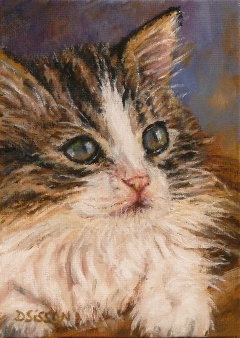 painting cats daily painting projects tabby kitten painting pet