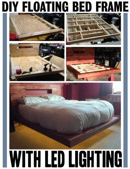 How To Make A Floating Bed Frame How To Build A Diy Floating Bed Frame With Led Lighting Removeandreplace