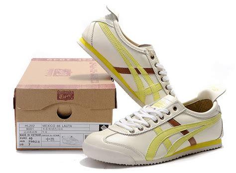 Promo Awal Tahun Asics Mexico 66 Brown Gold s onitsuka tiger mexico 66 lauta shoes beige light blue brown hl202 9154 onitsuka tiger