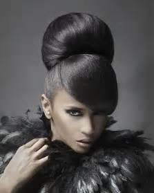 images of black braided bunstyle with bangs in back hairstyle bun hairstyles with a bang for black women junior