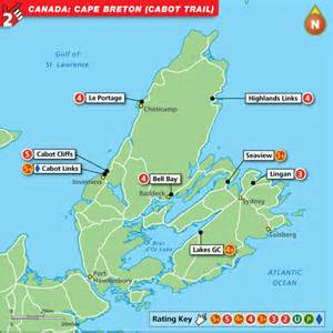 cape breton canada map cape breton golf map top golf courses and best stay